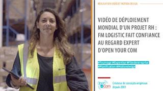 FM Logistics confie la réalisation de son film d'entreprise de sa vidéo d'entreprise à l'agence de communication, l'agence web, l'agence de publicité et l'agence événementielle Open Your Com, située dans les Yvelines en Ile de France