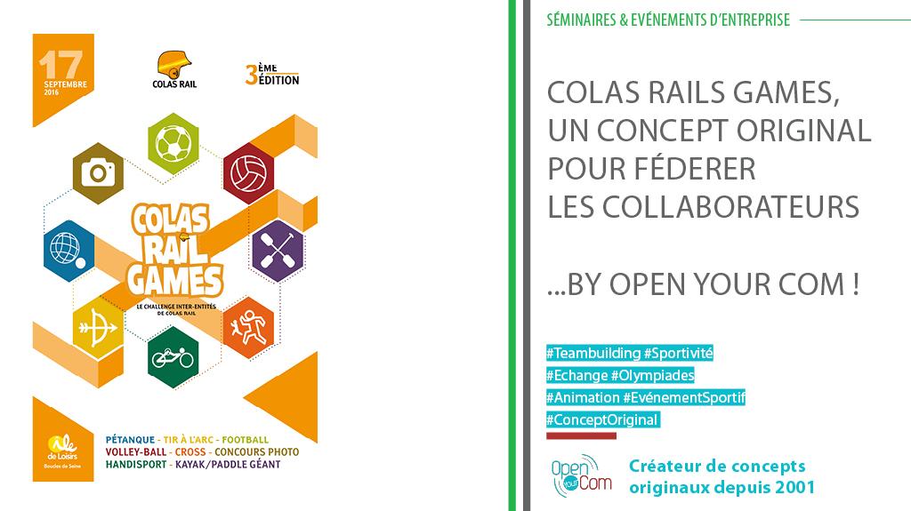 Conception et organisation des Colas Rail Games : rencontres sportives et team building pour les salariés de Colas Rail en France
