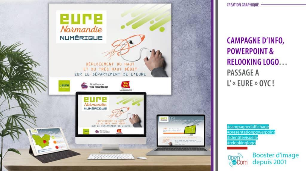Open Your Com Agence web Publicité Conception et création graphique de la campagne Eure Normandie pour le Conseil départemental de L'eure