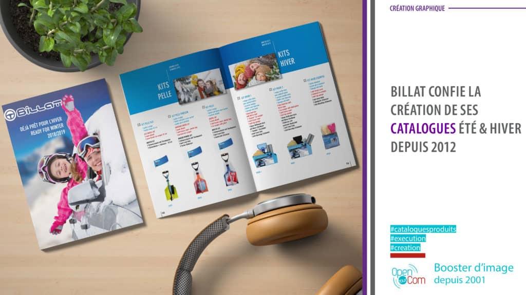 Open Your Com Agence web Publicite Création et execution du Catalogue été et hiver de la marque d'accessoires automobiles Billat