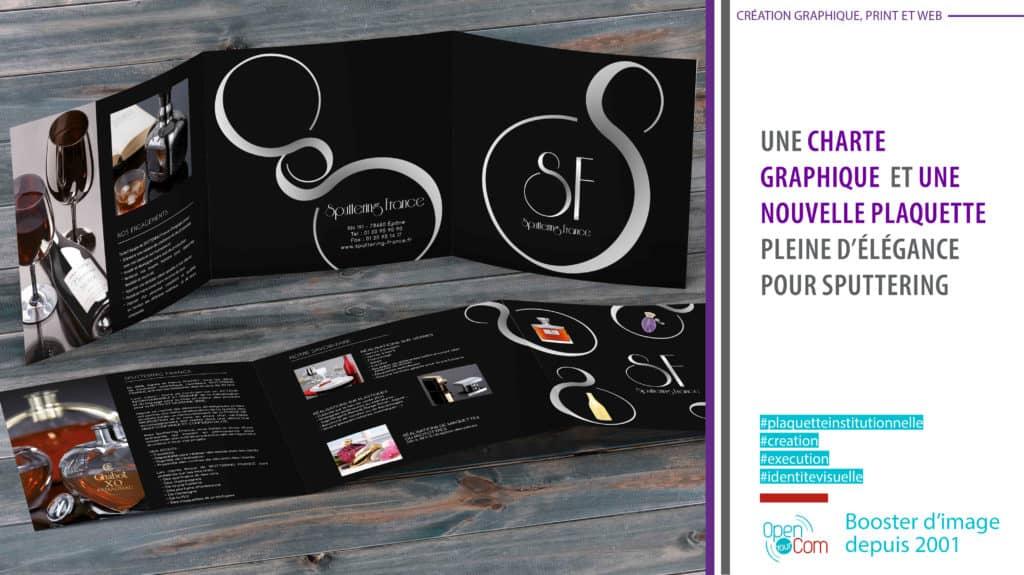 Open Your Com Agence web Publicité réalise la plaquette haut de gamme de SPUTTERING FRANCE