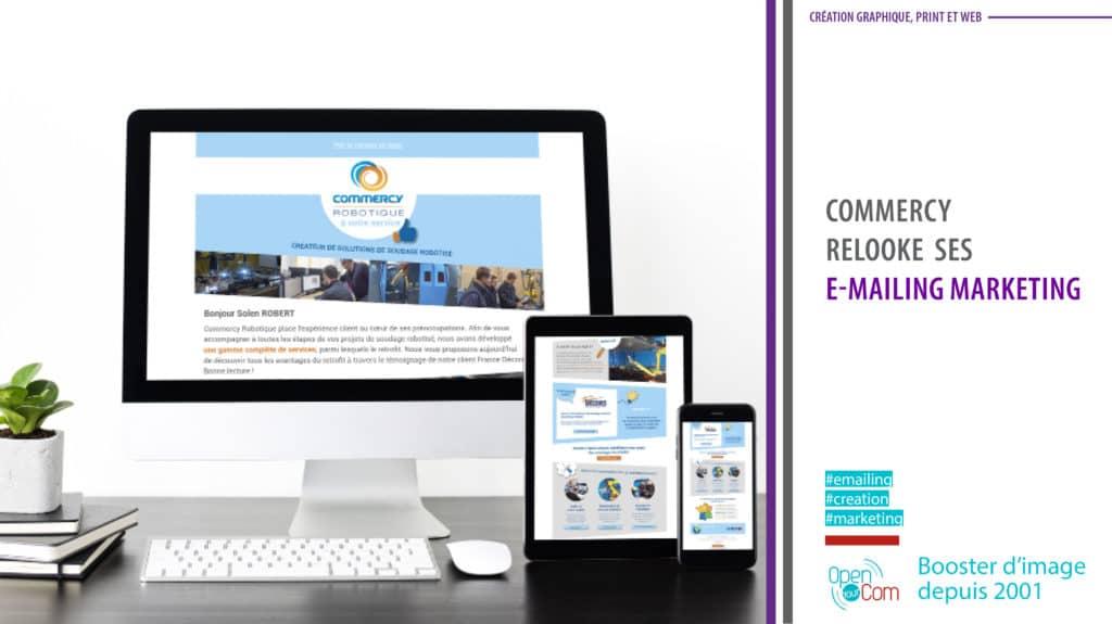 Open Your Com Agence web Publicité Commercy Robotique l'e-mailing newsletter de l'entreprise