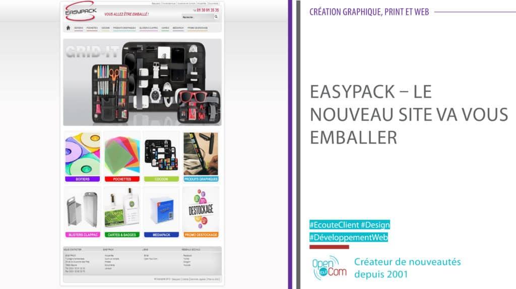 Open Your Com Agence web Publicité Easy Pack site web et catalogue produits en ligne