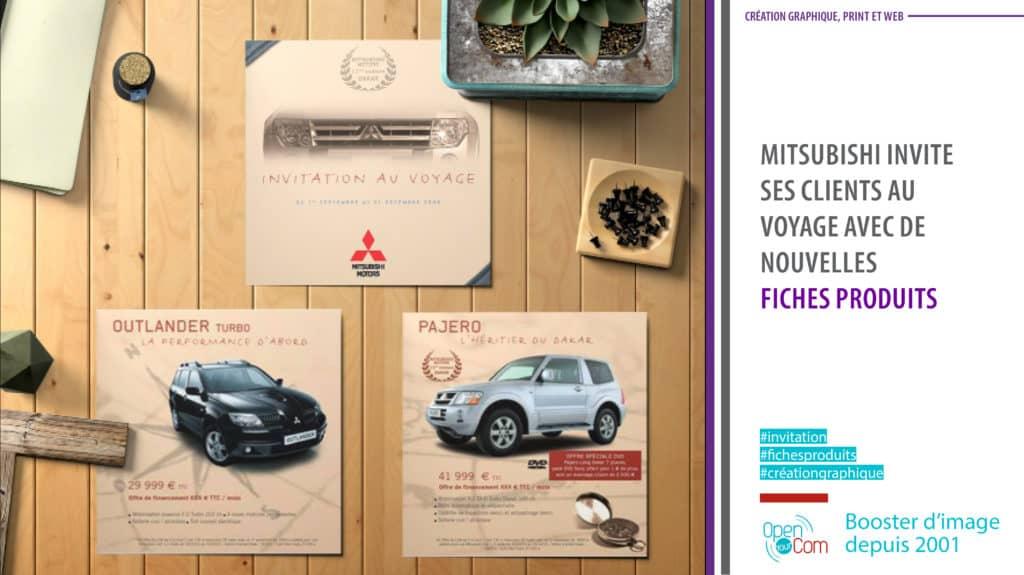 Open Your Com Agence web Publicité Mitsubishi fiches produits