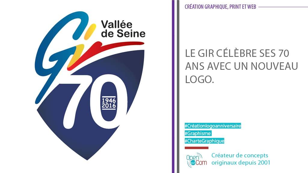 Open Your Com Agence web Publicité Création du logo anniversaire du GIR
