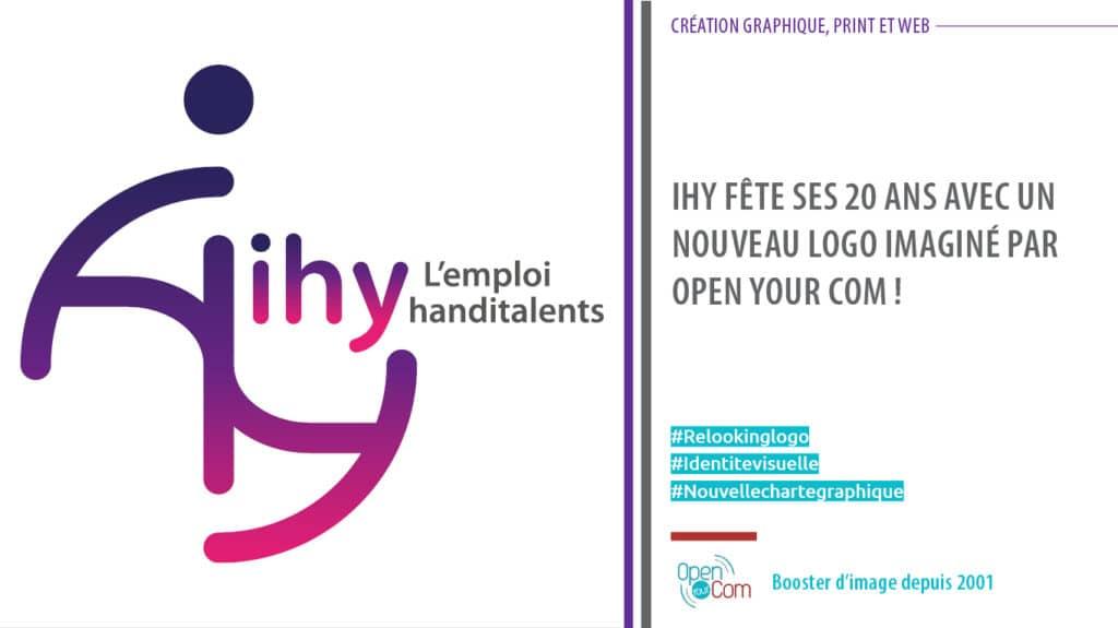 Open Your Com Agence web Publicité Création du nouveau logo et de la plaquette de IHY