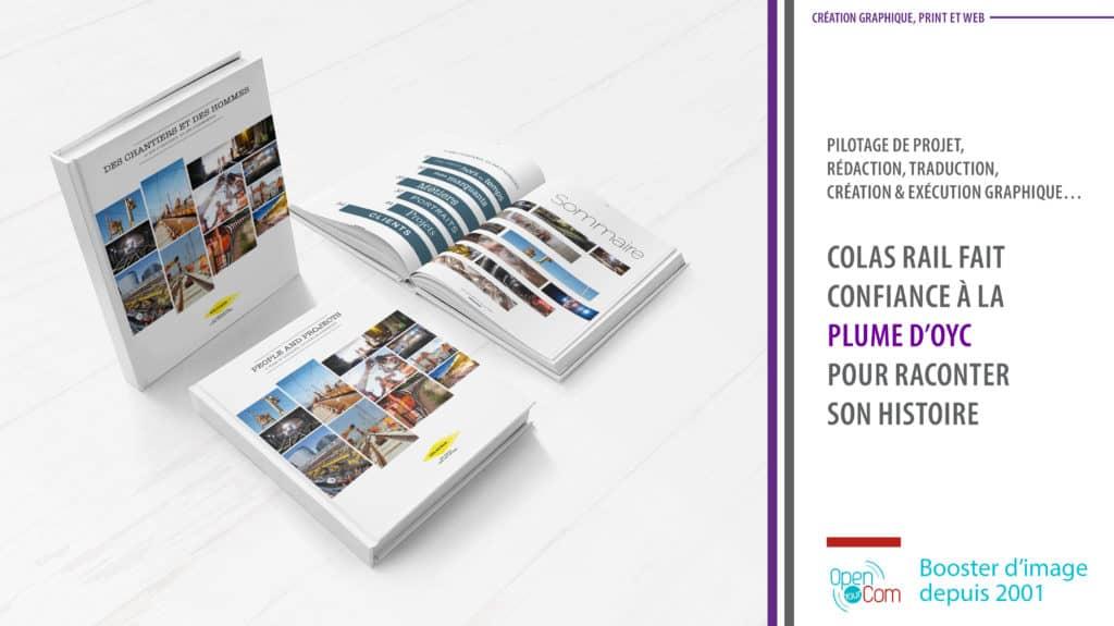 Open Your Com Agence web Publicite Conception rédaction et impression du livre anniversaire de Colas Rail