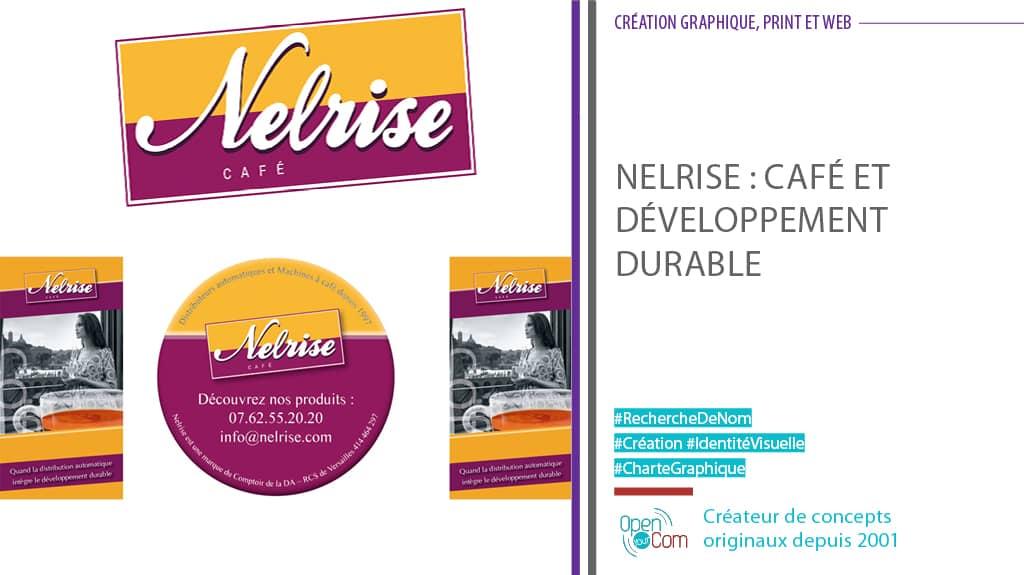 Open Your Com Agence web Publicité recherche de noms création du logo et de l'identité visuelle de Nelrise