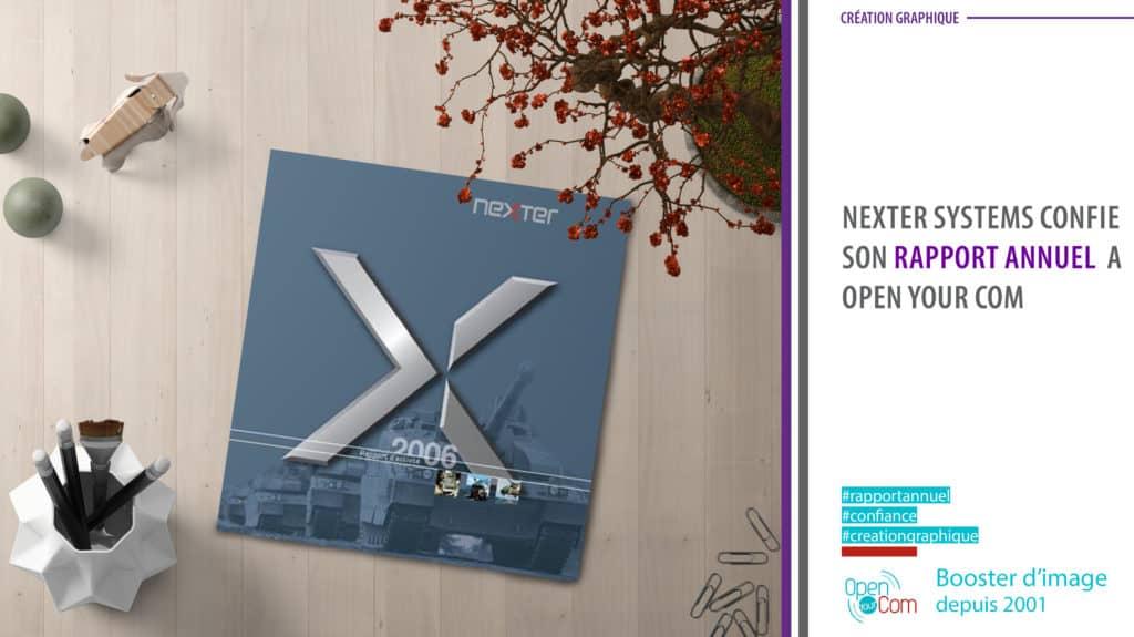 Open Your Com Agence web Publicité Rapport annuel Nexter