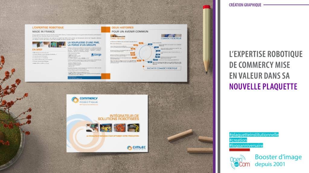 Open Your Com Agence web Publicité Création graphique de la plaquette Commercy robotique