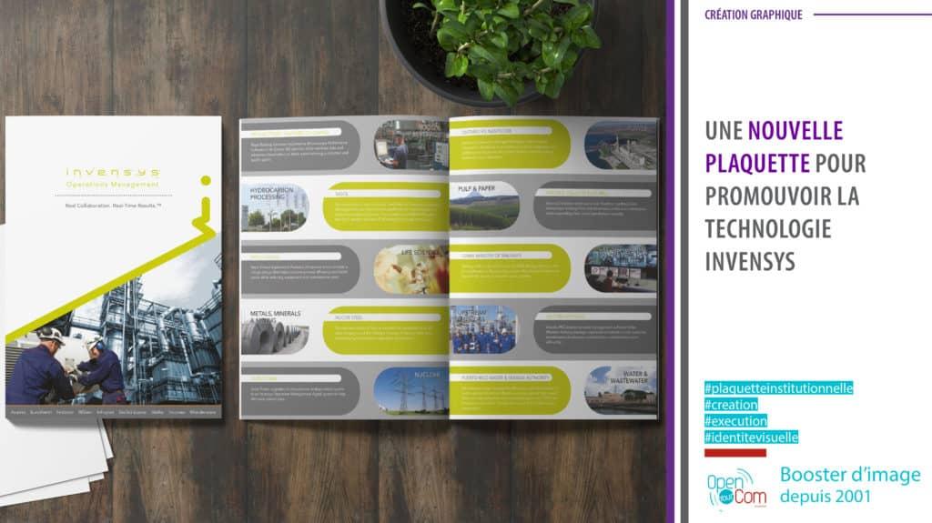 Open Your Com Agence web Publicité création graphique de la plaquette Invensys