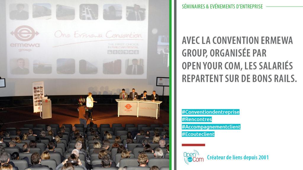 Organisation et gestion de la convention annuelle ERMEWA