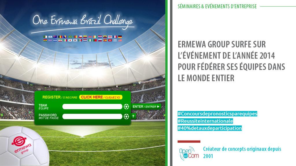 Pronosteam : concours de pronostics par équipe en entreprise pour fédérer les équipes chez ERMEWA